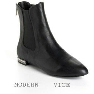 MODERN VICE Mystic Black Leather Ankle Boot
